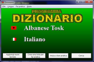 Fjalor-italisht-shqip